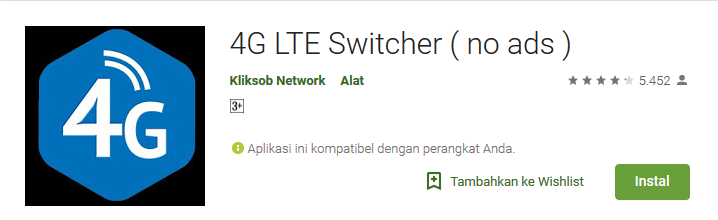 2 Cara Lock 4G LTE Only di Semua HP Android (Samsung, Xiaomi, Oppo