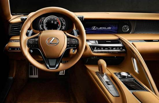 2017 Lexus LC 500 Interior and Exterior Design