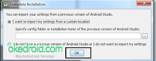 Import Setting Android Studio