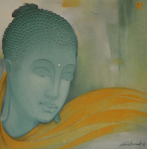 "Mind Waves"" Paintings of The Buddha by Sachin Kumawat"
