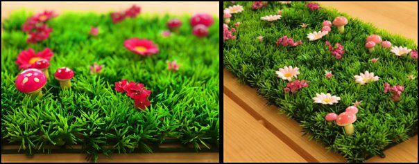 Daisy grass mats  woodland forest theme bedroom ideas - forest fairies decor - woodland fairy room decor -  woodland murals  - woodland animal decorations - forest animals - fairy woodland bedrooms - snow white themed bedroom decorating ideas - magical woodland fairy forest theme bedrooms - Forest themed bedding -  Toddler Teddy Bear Beds - Teddy Bear Headboards - toddler woodland bedroom