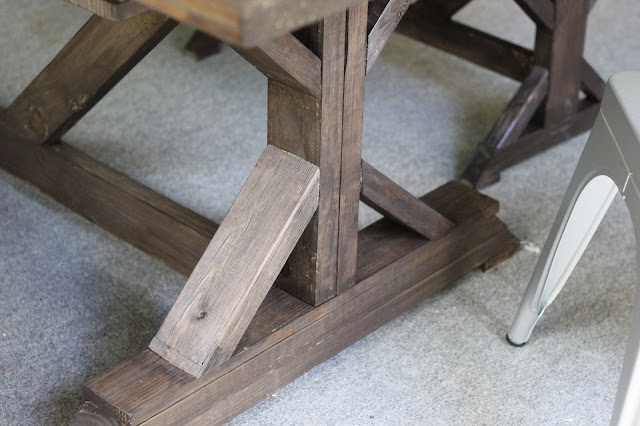 Handbuilt outdoor table and benches via DIYontheCheap.com