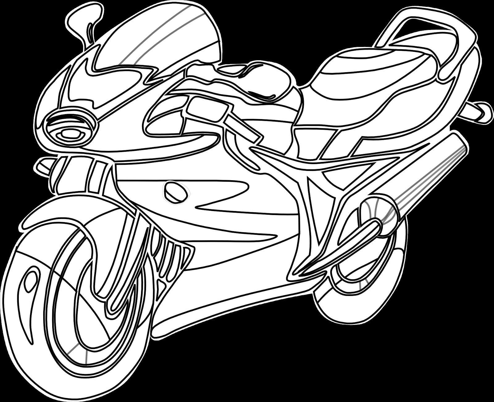 Los dibujos para colorear : Dibujos de motocicletas para colorear ...