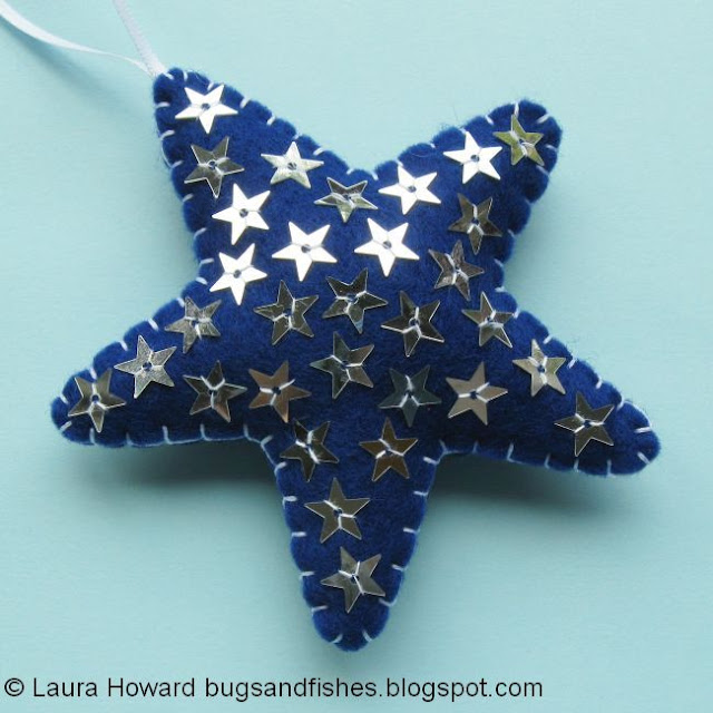 felt star ornament