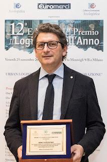 """D'Agostino insignito del premio """"il logistico dell'anno"""" 2016"""