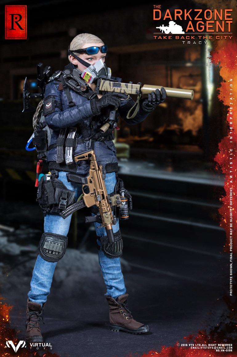 Virtual Toys The Dark Zone Agent Tracy Hazardous Bag loose 1//6th scale