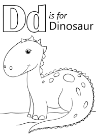 Dd For Dinosaur Coloring Sheet Aplhabet