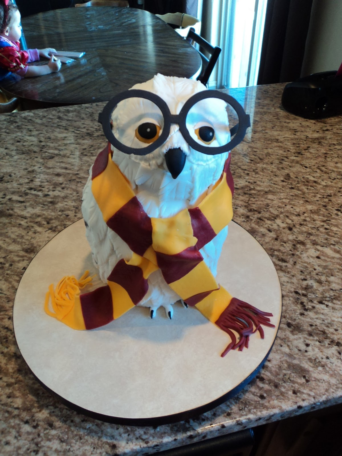 Delectable Cakes Harry Potter Hedwig Owl Cake