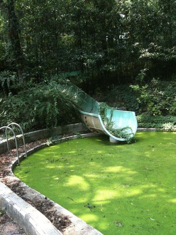 An Old swimming pool