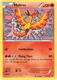 Moltres Fates Collide Pokemon Card