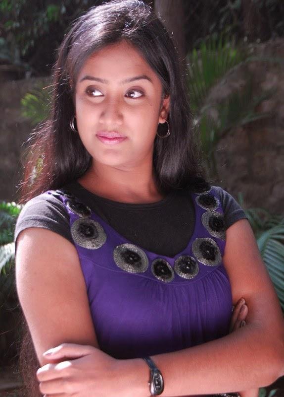 Telugu Tv Actress Sravani Photos In Blue Dress