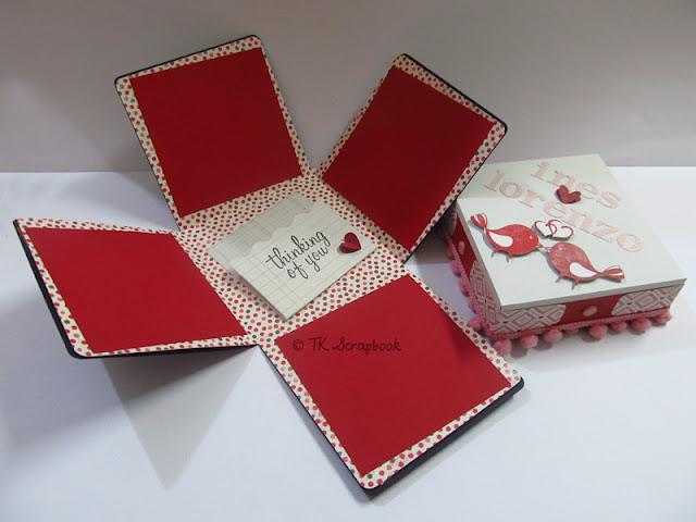 caixa explosion box romantico scrapbook