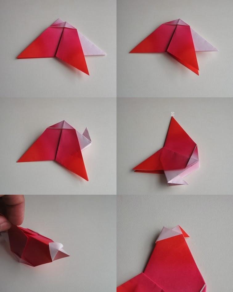 Origami Horoz Yapımı Resimli Anlatım 2