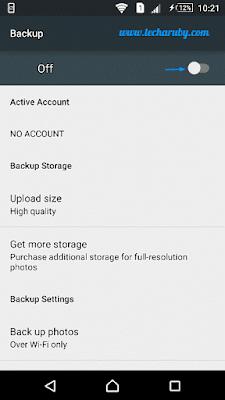 android google photos backup
