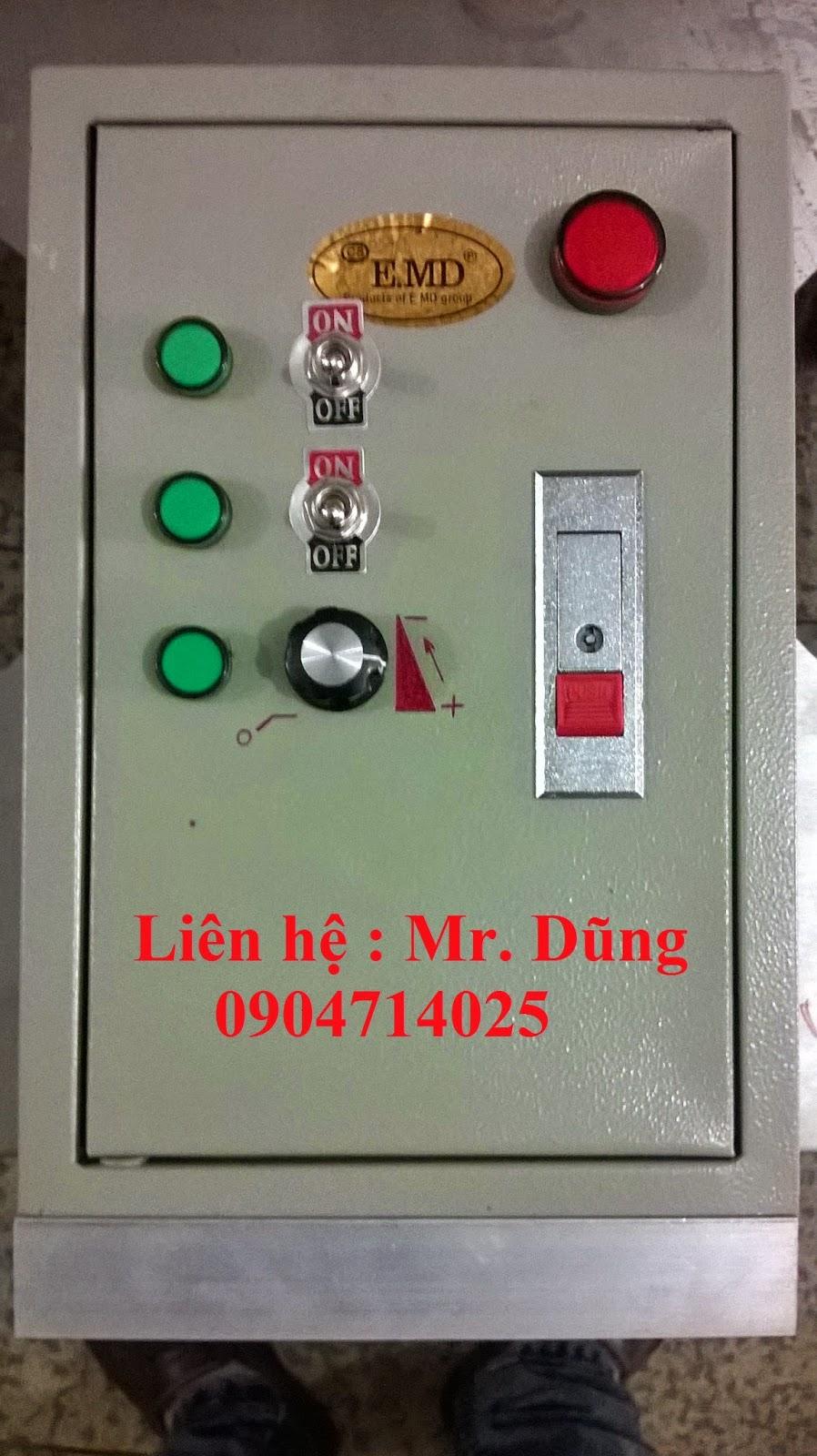 Bảng điện nồi phở điện điều chỉnh công xuất và các nút bật tắt