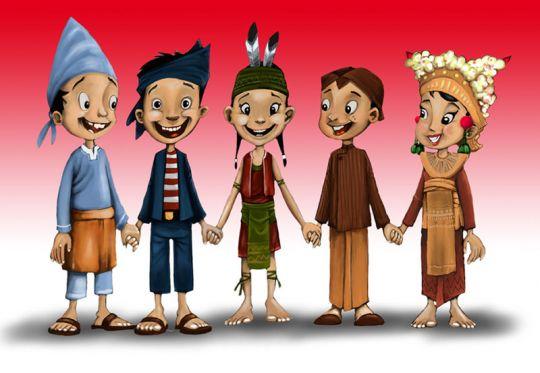foto menerima perbedaan budaya indonesia