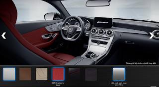 Nội thất Mercedes AMG C43 4MATIC 2017 màu Đỏ Cranberry 227