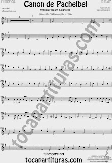 Pachelbel's Canon Sheet Music for Alto Saxophone and Barítone Sax Classical Music Score Canon by Pachelbel