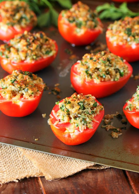 Broiled Fresh Tomatoes are an easy, simple side dish.