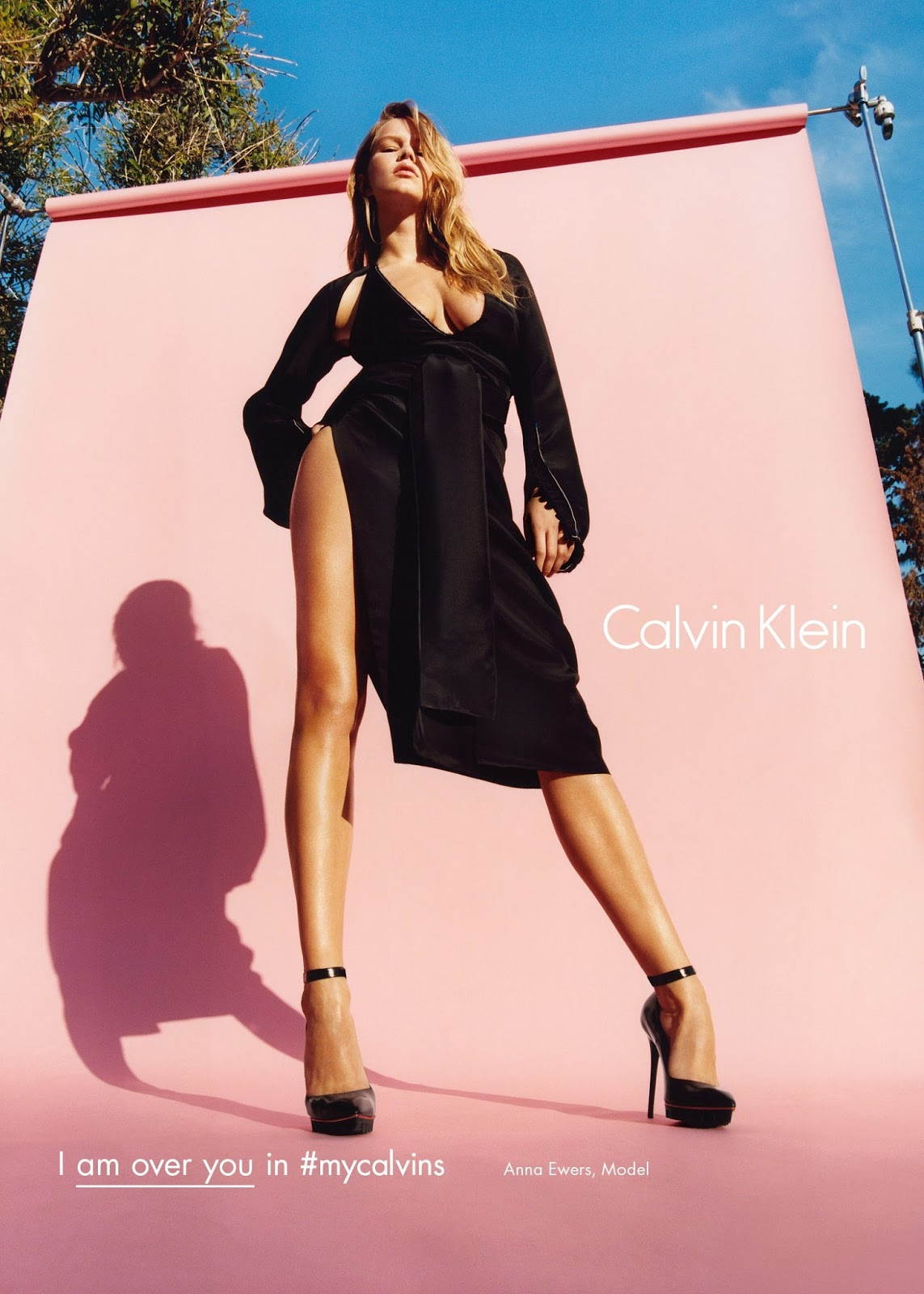 Anna Ewers by Tyrone Lebon for Calvin Klein Autumn/Winter 2016 Campaign