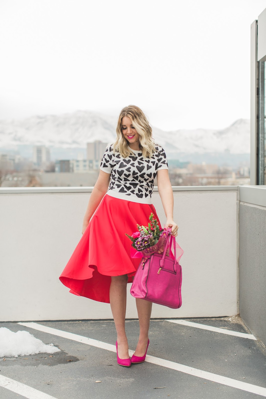 Valentine's Day Outfit, Red Skirt, Valentine's Inspiration