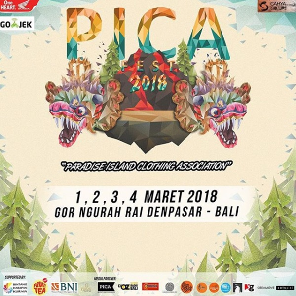 Ajang PICA Fest 2018 Pesta Clothing Lokal Bali