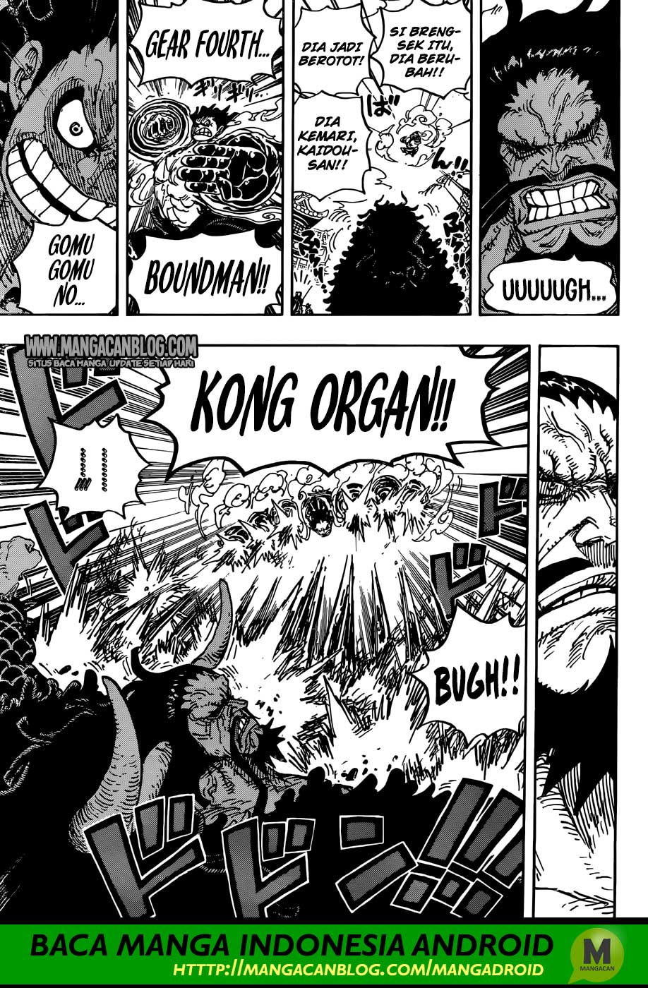 One Piece 923 Indonesia : Yonkou Kaido VS Luffy