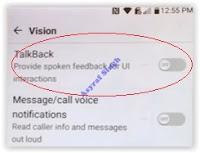 LG Talk back