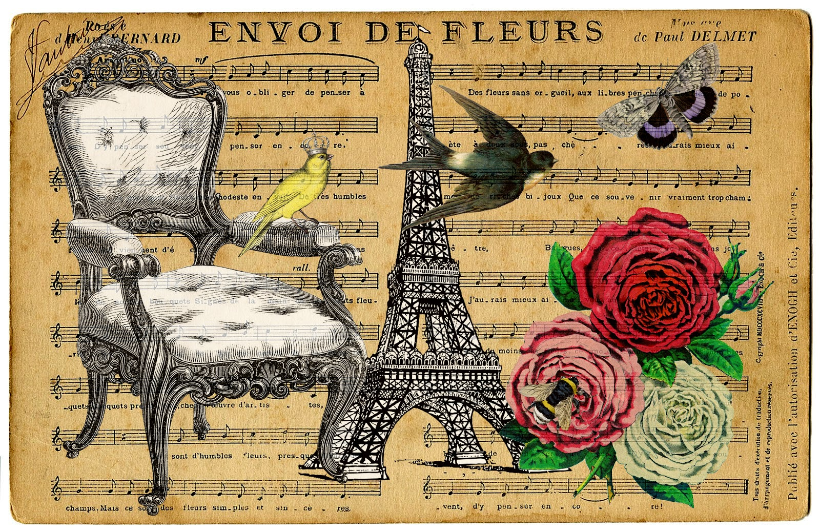 Free Paris Transfer Printable For You The Cottage Market
