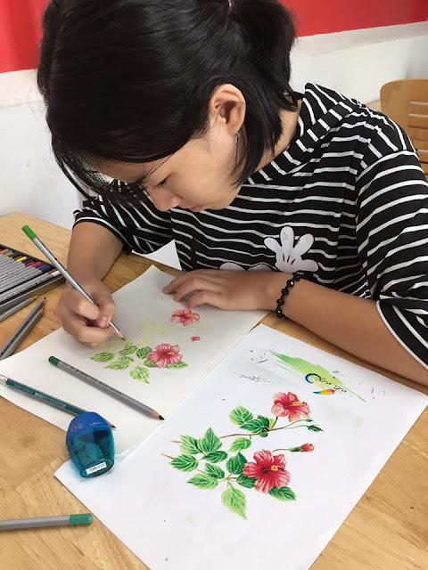 Học viên trung tâm mỹ thuật Nét Ngộ