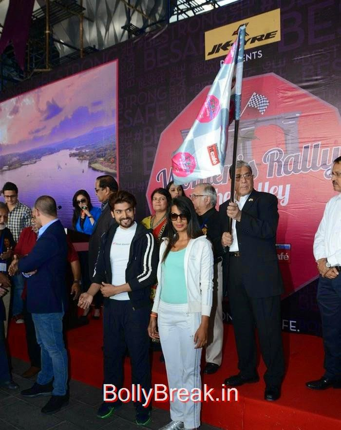 Mugdha Godse And Vijay Mallya at the Flag off for Women's Rally To The Valley, Mugdha Godse Hot Images at the Flag off for Women's Rally To The Valley