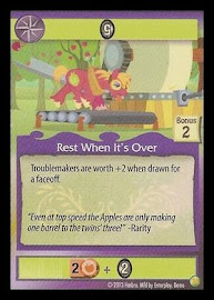My Little Pony Rest When It's Over GenCon CCG Card