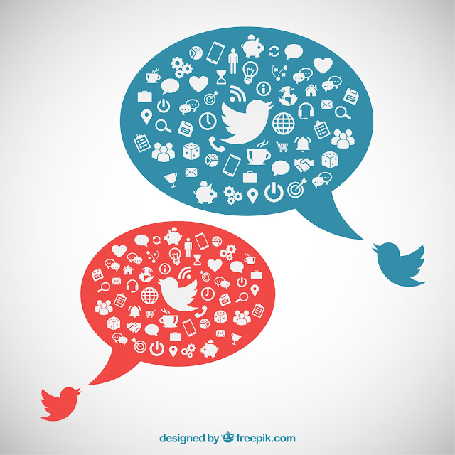 http://www.freepik.com/free-vector/speech-bubbles-with-social-media-icons_792503.htm