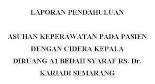 Laporan Pendahuluan CKR ( Cidera Kepala )