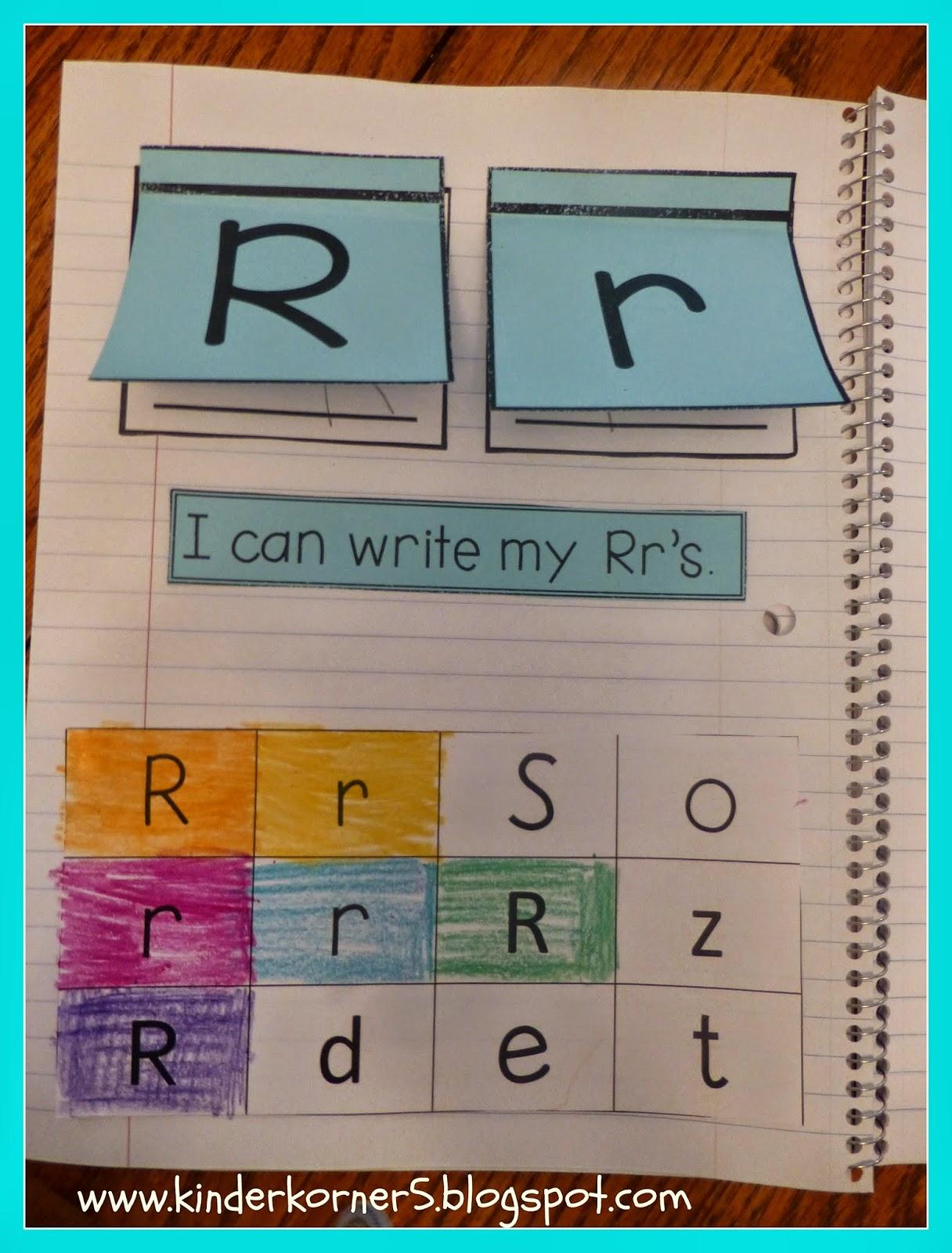 Kinder Korner Alphabet Interactive Notebook