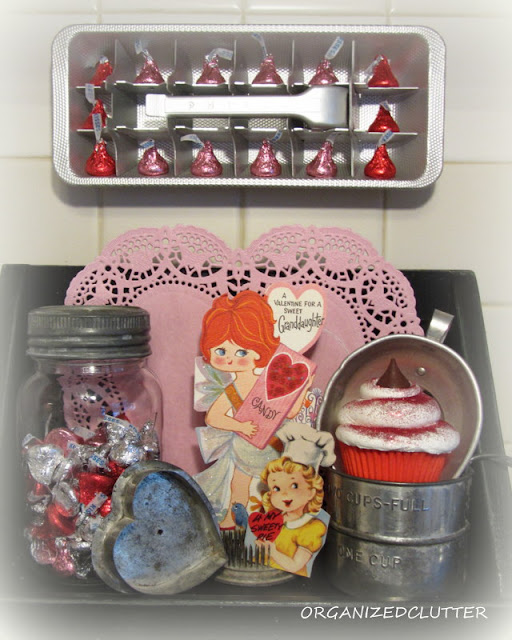 Valentine S Day Ice Cube Tray Shadow Box Organized Clutter