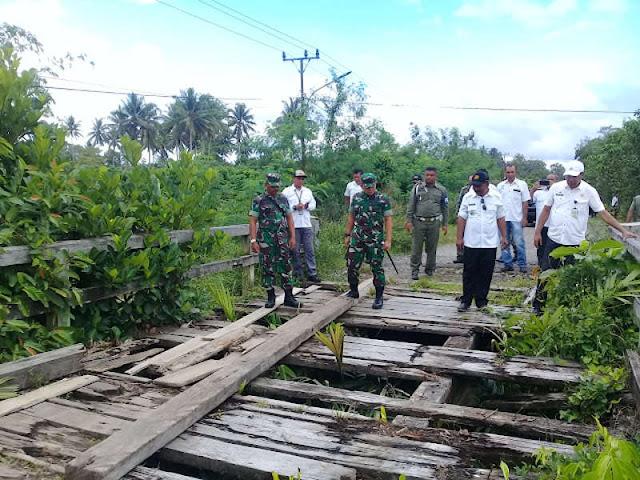 Tri Sugiarto dan Frans Manery Tinjau Lokasi TMMD di Kao Barat