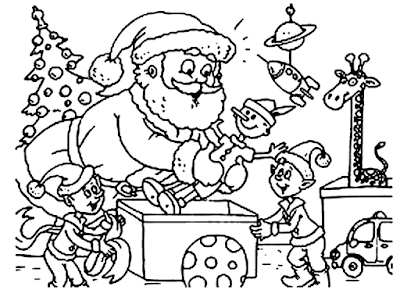 Free Download Santa Claus Printable Christmas Coloring Pages