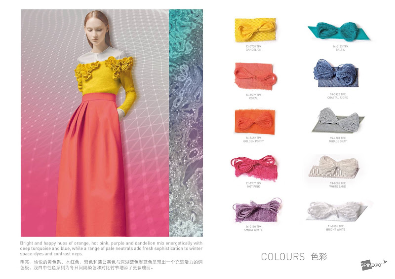 Colour trends ss 2017 - Fashion Vignette Trends Spin Expo Color Yarns And