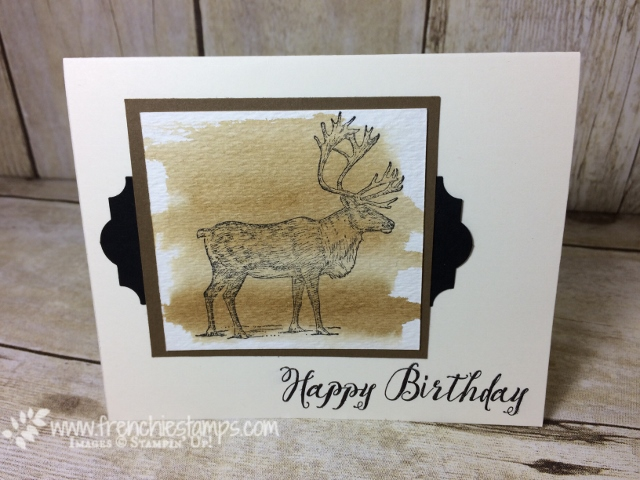 Masculine Card, Nature Sings, Stampin'Up!, Feather Together,  Everyday Label Punch, Frenchiestamps