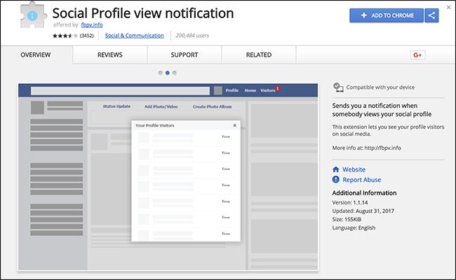 Estensioni browser per conoscere chi ha visitato il profilo Facebook oggi