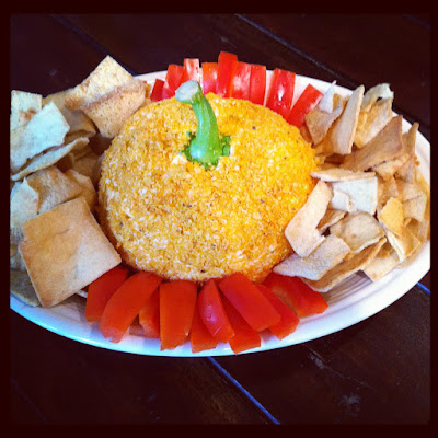 Pumpkin Cream Cheese Ball Appetizer.  Simple and Impressive! | The Lowcountry Lady