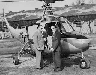 Bossi, his son Charles and the Higgins helicopter