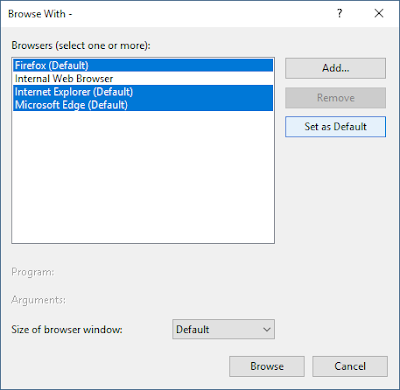 Run multiple browsers simultaneously, based on the default list