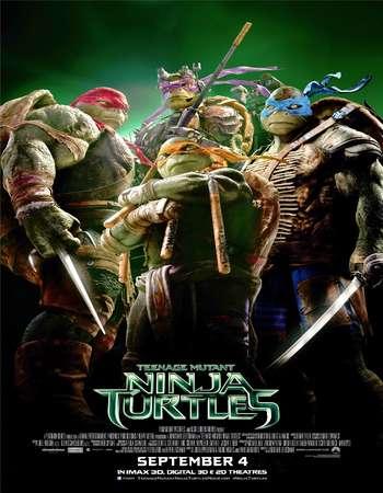 Poster Of Teenage Mutant Ninja Turtles 2014 Dual Audio 350MB BRRip 720p ESubs HEVC Free Download Watch Online Worldfree4u