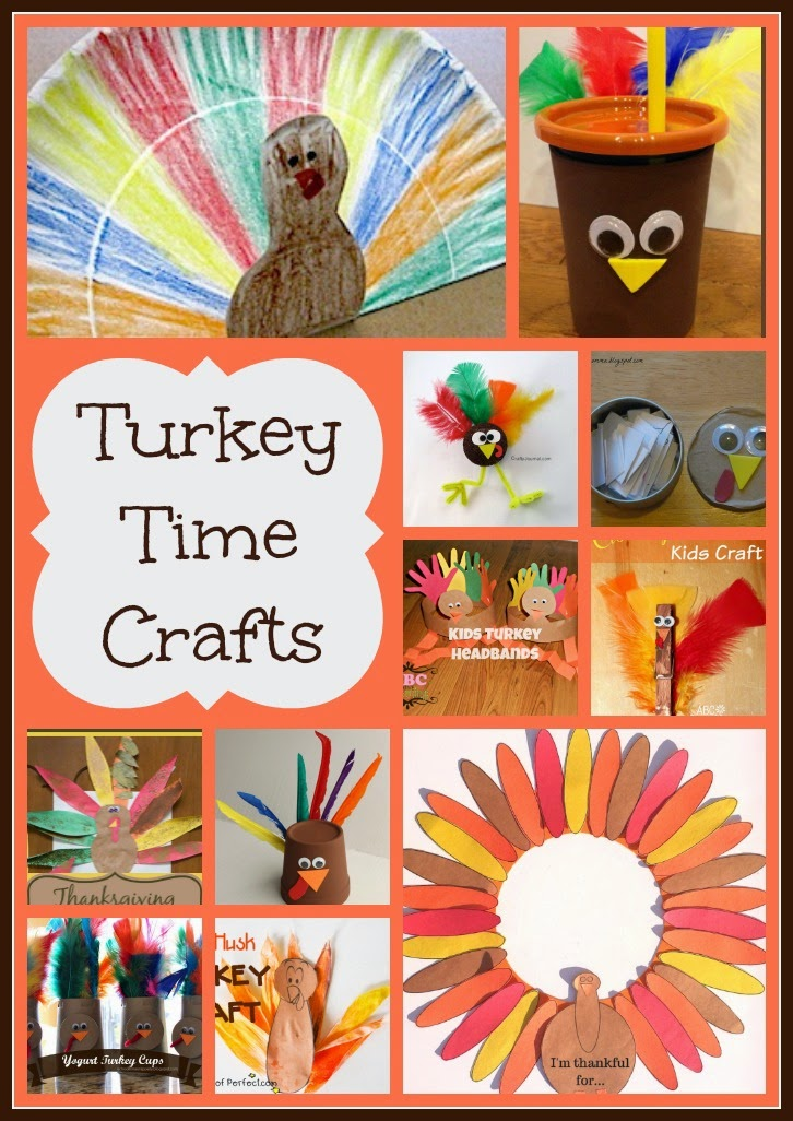 Turkey Time Crafts on Mom's Library