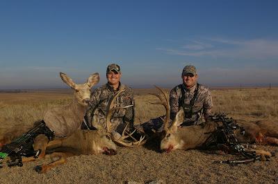 brothers hunting mule deer bucks