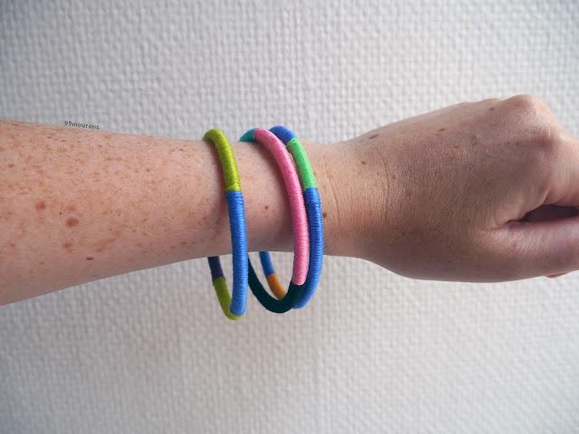 bracelets jonc fils enroulés