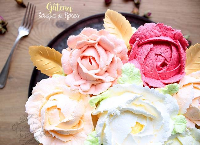 Rose Cake Ou Gateau Bouquet De Fleurs Pour La Saint Valentin Il