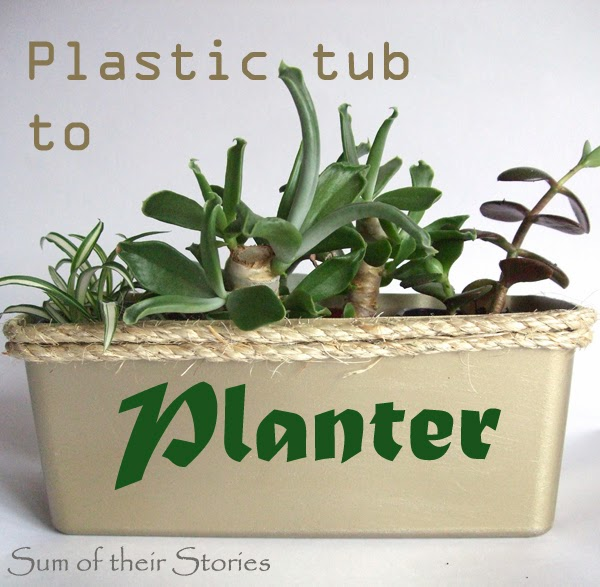 Plastic Tub to Planter Tutorial